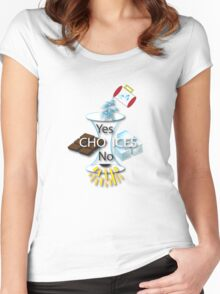 Yes + No = Choice Women's Fitted Scoop T-Shirt