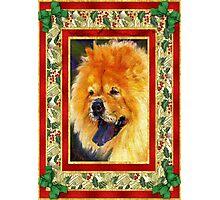 Chow Chow Dog Christmas Photographic Print