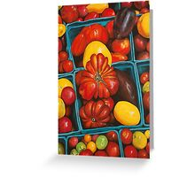 Heirloom Tomatoes, Grand Central Market Greeting Card