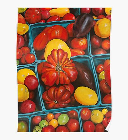 Heirloom Tomatoes, Grand Central Market Poster