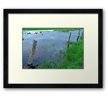 flooded fencing Framed Print