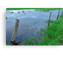 flooded fencing Canvas Print