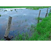 flooded fencing Photographic Print