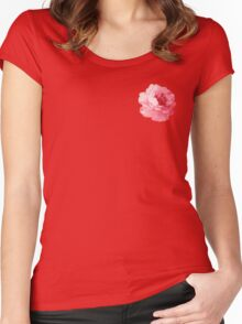 Watercolor Flower Women's Fitted Scoop T-Shirt