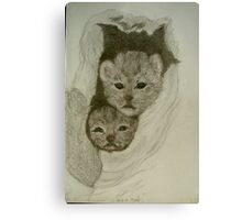 cubs nest Canvas Print