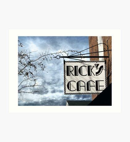 Rick's Cafe Art Print