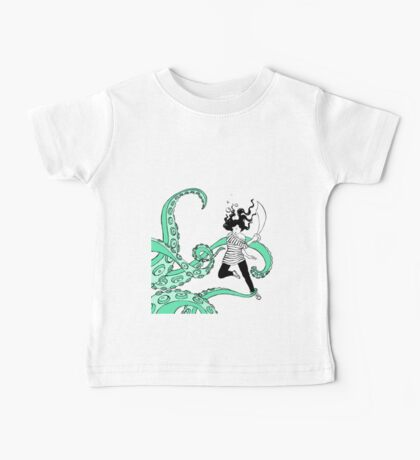 Squid Slayer Aqua Baby Tee