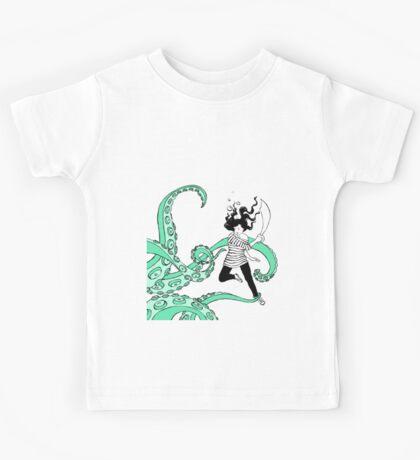 Squid Slayer Aqua Kids Tee