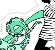 Squid Slayer Aqua Sticker