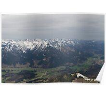 Mountainous Valley Poster