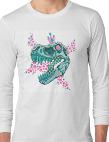 Princess Power Trex Skull Long Sleeve T-Shirt