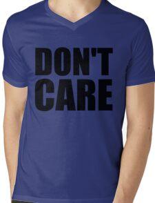 Don't Care Mens V-Neck T-Shirt