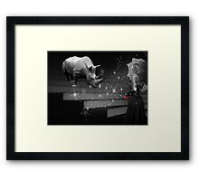 The Beast Within... Framed Print