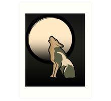 Wolf Link Moon (Twilight Princess) Art Print