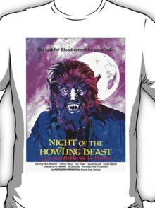 English-USA poster of La maldición de la bestia T-Shirt