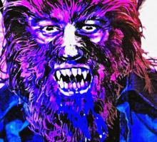 English-USA poster of La maldición de la bestia Sticker