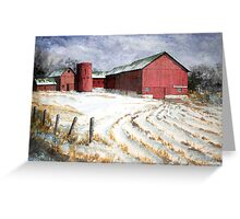Red Barn on Rt. 49 Greeting Card