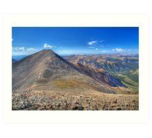 Grays Peak from Torreys  Art Print