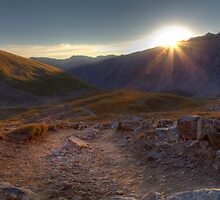 Sunrise on Torreys Peak trail by activebeck2012