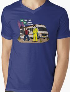 Breaking Back to the Future Mens V-Neck T-Shirt