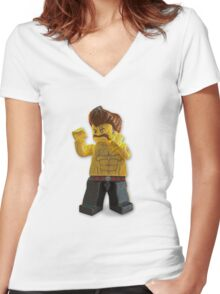 lego Women's Fitted V-Neck T-Shirt