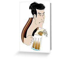 Ukiyoe Kampai! Greeting Card