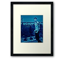 Blue Drew Framed Print