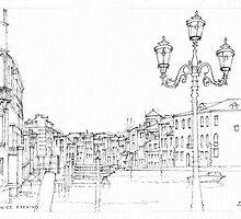 Venice Evening Sketch by Dai Wynn