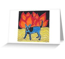 Flame Dog Greeting Card
