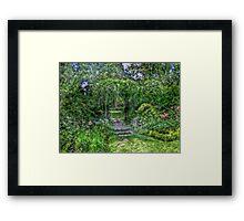 Lost In The Garden Green Framed Print