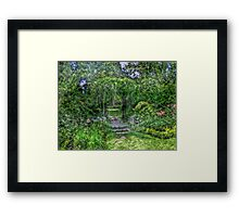 Lost In The Garden Green Framed Print