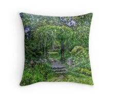 Lost In The Garden Green Throw Pillow