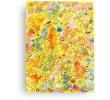 Abstract Background with Spirals on Yellow Green Pink Metal Print