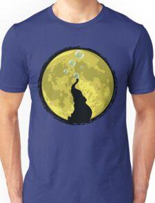 Elephant bubbly in the moonlight Unisex T-Shirt