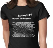 William Shakespeare Sonnet 29 Grunge T Shirt Womens Fitted T-Shirt