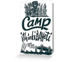 Camp Yeti Greeting Card