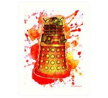 Red Dalek Art Print