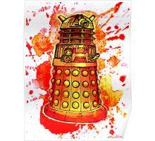 Red Dalek Poster