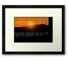 Aerial View Sunset Scene of Montevideo Uruguay Framed Print