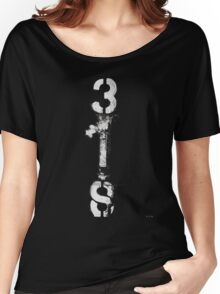 3IS black and white Women's Relaxed Fit T-Shirt
