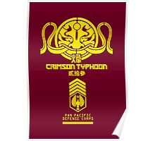 Crimson Typhoon (Yellow) Poster