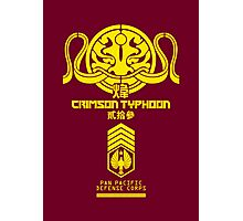 Crimson Typhoon (Yellow) Photographic Print