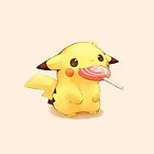 Pikachu and the lollipop by wes151