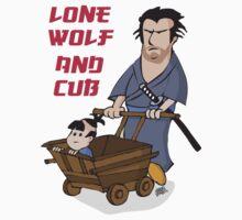 Lone wolf and cub by Greg Vercoe