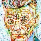 SAMUEL BECKETT - colored pens portrait by lautir