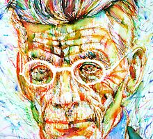 SAMUEL BECKETT - colored pens portrait by lautir