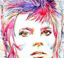 DAVID BOWIE - colored pens portrait by lautir