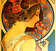 Art Nouveau Muse by Alphonse Mucha by ©The Creative  Minds