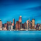 New York City Skyline At Night by Noel Moore Up The Banner Photography