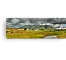 Colourful Community Panoramic Canvas Print